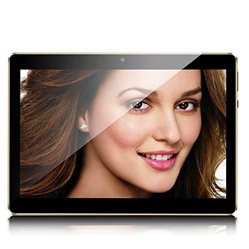 Tablet 10 Zoll, Android Tablet PC Android 9.0 mit 4 GB RAM 64 GB ROM Quad Core CPU, IPS HD 1280 x 800, Dual Kamera/SIM 3G Tablets Unterstützung WiFi/GPS/Bluetooth (schwarz)