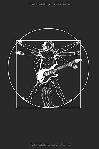 Vitruvianischer Mensch E-Gitarre: DIN A5 Gitarren Notenbuch 120 Seiten • Notenblatt • Gitarren Tabs Heft • Songwriting Notizbuch • Lyrics Journal Gitarrist Musiker Festival