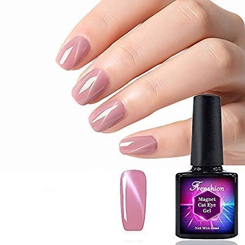 Frenshion 10 ml Magnétique Cat Eye Gel Polonais 3D Gel Vernis À Ongles Soak Off UV LED Lait Rose Violet Perle Couleur Nail Art 051