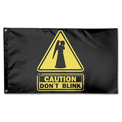 Eriesy Fahne/Flagge Don´t Blink Family Flag Garden Flag Party Flag 100% Polyester Fiber Garden Flag