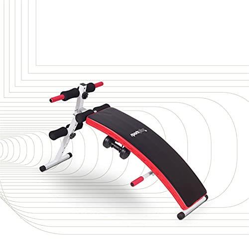 SportPlus Multifunctional Trainer Power Sit-Up Bank mit 2x 1,5 kg Hanteln SP-SUB-001-W
