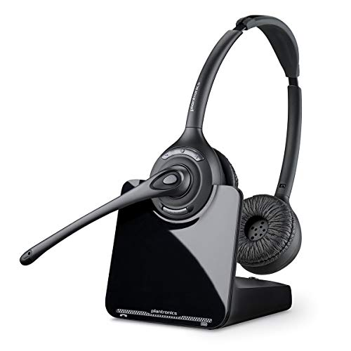 Plantronics PL-CS520 Binaural Wireless Headset System, Black/Silver