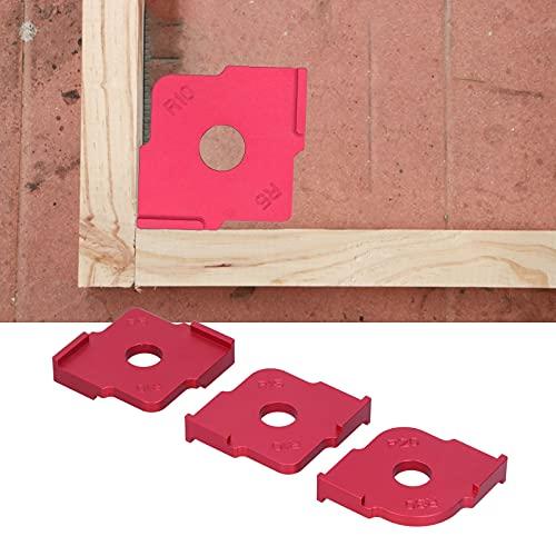 Dima ad arco ad angolo arrotondato ad angolo R, in lega di alluminio Portatile Comodo raggio d'angolo Dima a maschera rapida per il posizionamento della tavola di legno Filetto di taglio