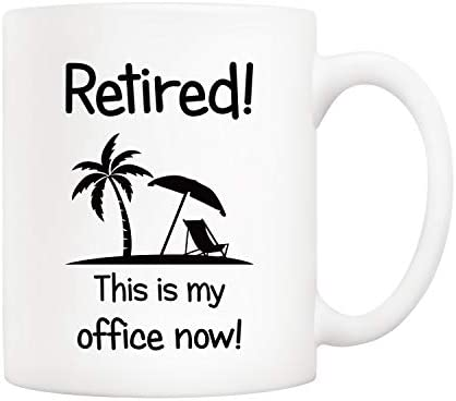 5Aup Christmas Gifts Funny Retirement Coffee Mug Retired This Is My Office Now Novelty Ceramic product image