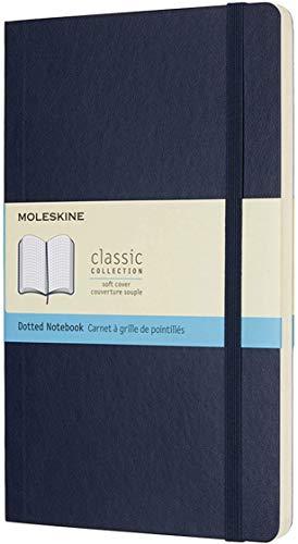 Moleskine Notebook Classic Copertina Morbida - Quaderno Pagina Puntinata, Large, Blu (Zaffiro)