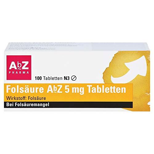 FOLSÄURE ABZ 5 mg Tabletten 100 St
