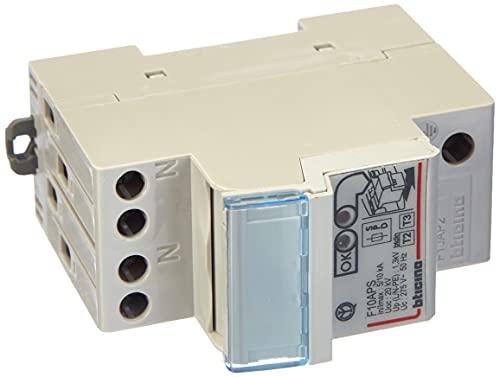 BTicino F10AP2 Serie BTDIN Limitatore Sovratensione SPD Autoprotetto, 2 Poli, in 10Ka, 250 V, Grigio