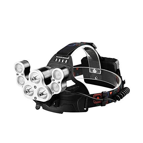 ZBQLKM Headlamp, 7 LED Headlight, USB Rechargeable Head Lamp Flashlight, 5600 Lumens Waterproof Light for Outdoors, Household