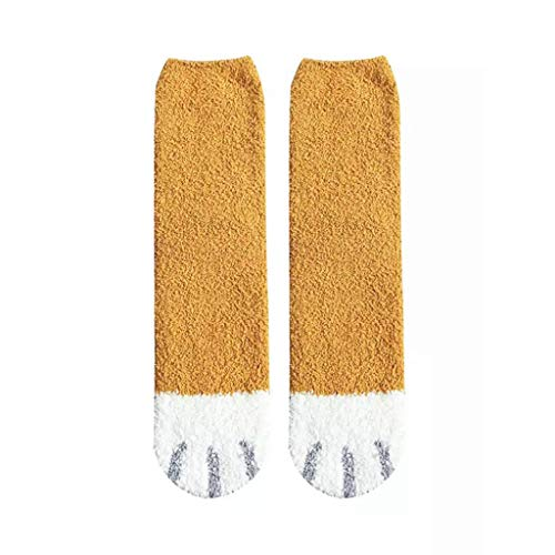 Chaussettes d'hiver chaudes et moelleuses pour femme Motif mignon pattes de chat -  - Taille...