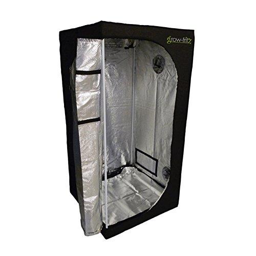 Growzelt 80x80x160cm nicht Lichtdurchlässig, Sichtfenster + variable Anschlussmöglichkeiten, Growbox Zuchtschrank Growtent Gewächszelt Zelt Homegrow
