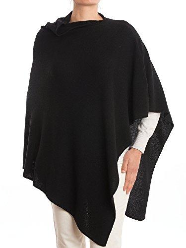 DALLE PIANE CASHMERE - Poncho aus Kaschmir-Gemisch - für Damen, Farbe: Schwarz, Einheitsgröße