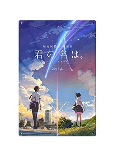 oceansEdge11 Your Name Movie Metal Japan Anime Tin Sign Manga Poster Bar Cafe Bedroom Home Decor 8 x 12 inch(20x30cm)