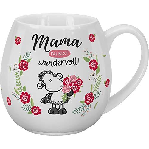 Sheepworld 46313 Kaffeetasse mit Design Mama Du bist wundervoll, 45 cl, Porzellan, in Geschenk-Banderole Tasse