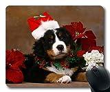 Gaming Mousepads, Stop Cute Dogs Weihnachtshund, Präzisionsnaht, haltbare Mausunterlage