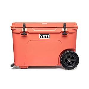 YETI Tundra Haul Portable Wheeled Cooler, Coral