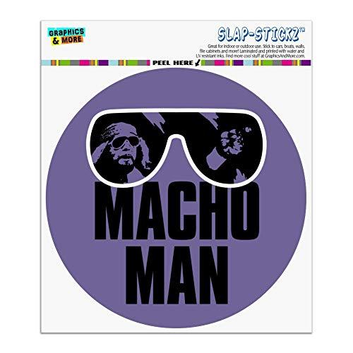 Graphics and More WWE Macho Man Classic Logo Automotive Car Window Locker Circle Bumper Sticker