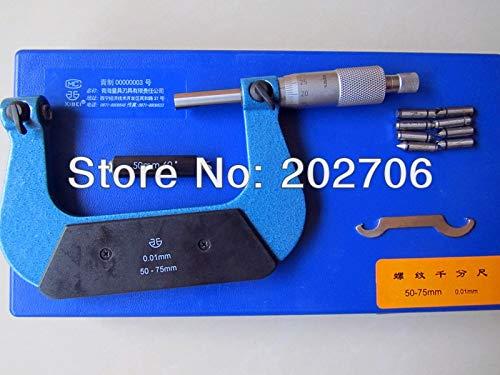 GYW-YW 50-75mm Rosca de Tornillo micrométrico Incluyendo yunques de medición del micrómetro Hilo de Pinza