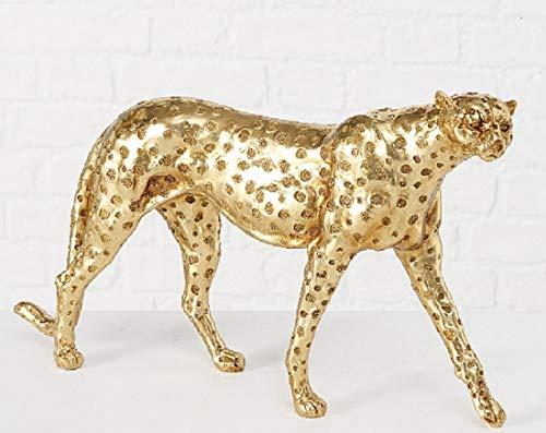 Boltze Gepard Artemis Figur goldfarben Skulptur H26cm