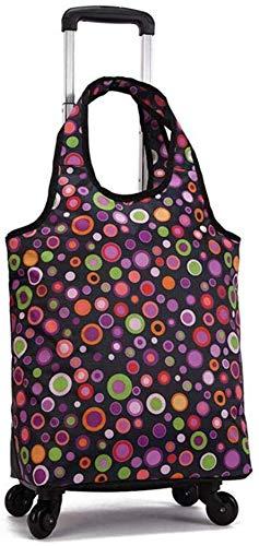 JIAN trolley inklapbaar trolley tas opvouwbare boodschappentas met wieltjes boodschappentas reistas meerdere kleuren voor winkelen outdoor-activiteiten (kleur: # 3)