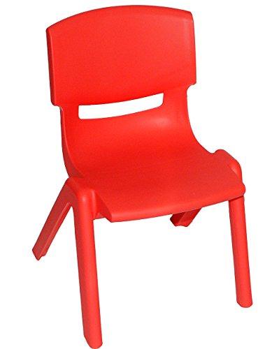 alles-meine.de GmbH Kinderstuhl - ROT - stapelbar / kippsicher / bis 100 kg belastbar - für INNEN & AUßEN - Kindermöbel für Mädchen & Jungen - Plastik / Kunststoff - Stuhl Stühle..