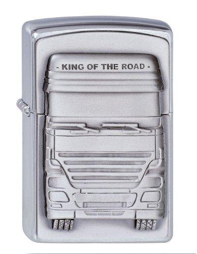 Zippo Zippo Feuerzeug 1300176 King of The Road Emblem Benzinfeuerzeug, Messing Map(language_tag -> De_de)