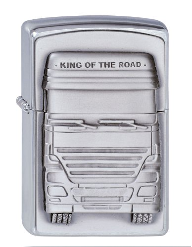 Zippo 200 King of The Road Emblem Feuerzeug, Messing
