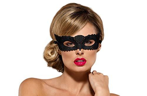 Obsessive verführerische Augenmaske mit luxuriösen Details, Qualität made in EU, in hübscher Geschenkbox (Einheitsgröße, schwarz)