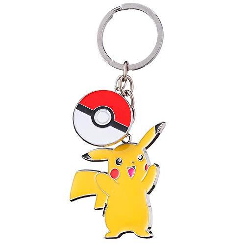 MINTUAN Porte Clés Classique De Bande Dessinée Pokemon Go Porte-Clés Poke Ball Pikachu Porte-Clés Bijoux De Mode Porte-Clés De Voiture pour Porte-Clés Cadeaux Chaveiro