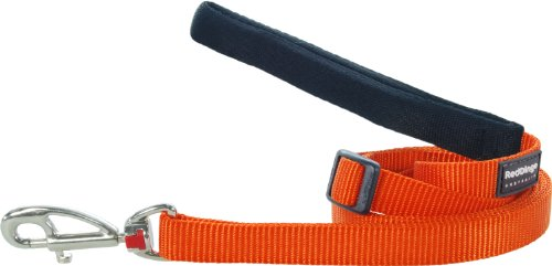 Red Dingo Hundeleine, unifarben, Größe L, 2,5cmx1,8m, Orange