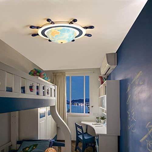 TAIQIXI Kinderzimmer Lampe Junge Kreative Globus Augenschutz Einfache Moderne Schlafzimmer Zimmer Kronleuchter Studie Led Deckenleuchte, 70cm/24+44W