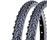 ECOVELO 2 Copertoni 26 x 1.90 (47-559) per Mountain Bike 26'' | Pneumatici Neri per Bicicletta MTB Ragazzo