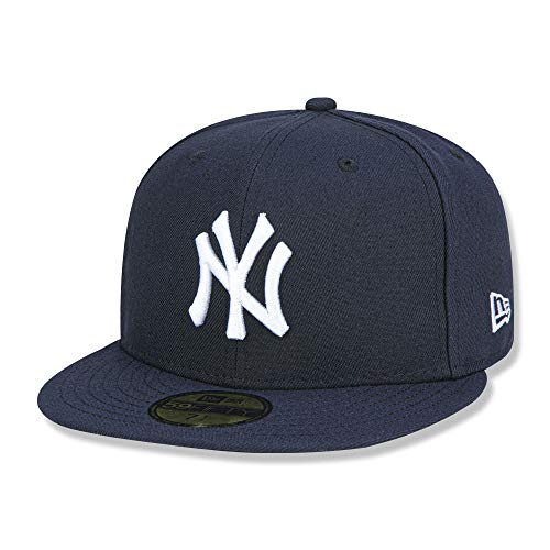 New Era Mens New York Yankees MLB Authentic Collection 59FIFTY Cap, Size 7 5/8