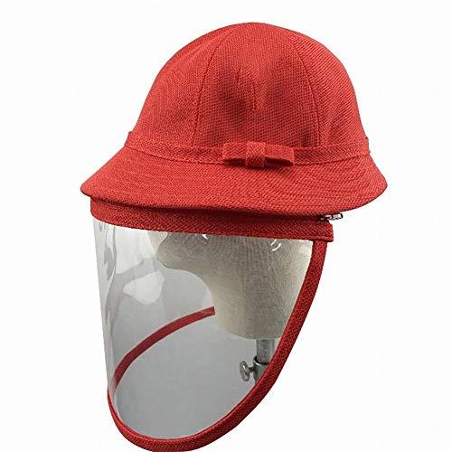 LAAT Sombrero para niña niño Pantalla Facial, Sombrero Protector, protección máscara Facial Visera para 1-3/4-6/7-13 años de Edad