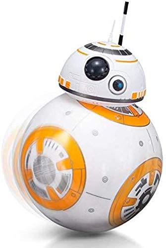LHFD 2.4G Robot de Control Remoto Inteligente Star Wars Upgrade RC BB8 Robot con música Sonido Figura de acción Juguetes de Regalo Bola BB-8 para niños