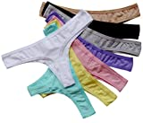 ABClothing Womens '8 Stück Baumwolle Nahtlose G-String Tanga Unterwäsche Multi-Color XXL variieren...