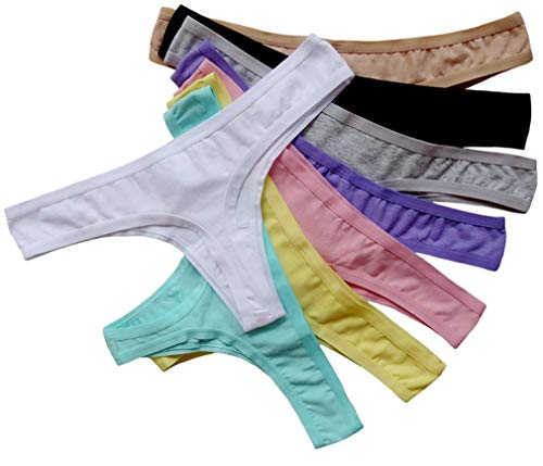 ABClothing Womens '8 Stück Baumwolle Nahtlose G-String Tanga Unterwäsche Multi-Color XXL variieren 8 Pack