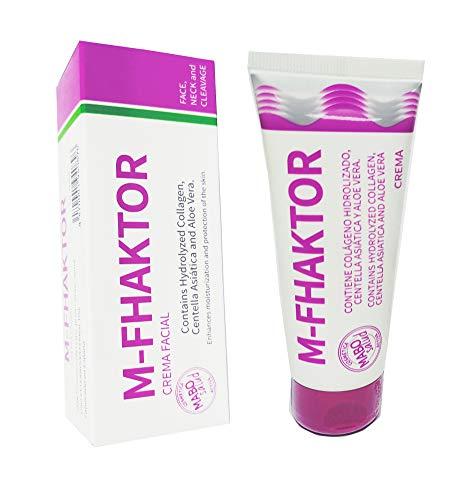 M-FHAKTOR Crema Facial Cuello Escote con Centella Asiática Colágeno Hidrolizado Aloe Vera 60ml