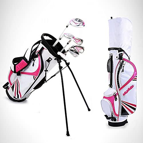 スポーツキッズゴルフセット-ユースゴルフクラブセット屋内外のゴルフ初心者や子供に適しています多くの色とサイズを選択できます,ピンク,L