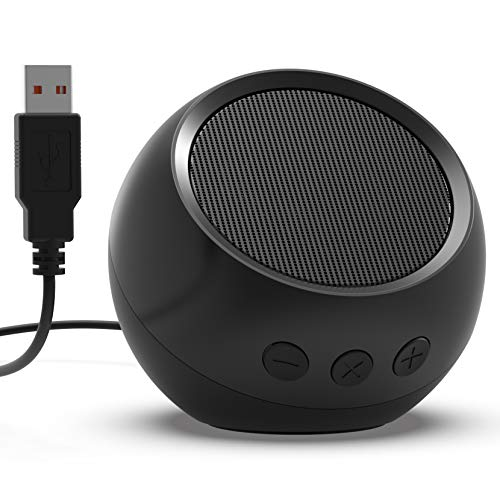USB Computer Speaker, PC Speaker for Desktop Computer, Small Laptop Speaker with Hi-Quality Sound, Loud Volume, Enhanced Bass & Volume Control, Compatible with Windows, macOS, Chrome OS System