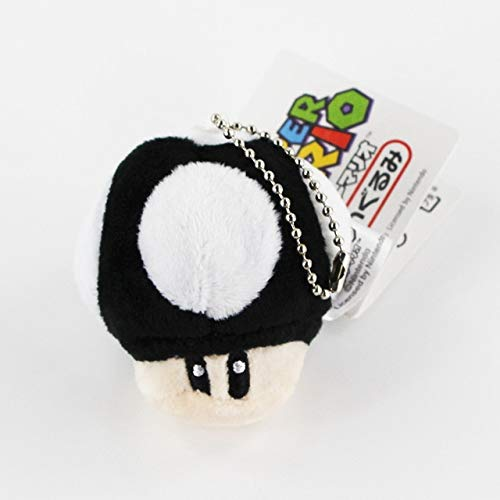 6cm Super Mario Bros Toad Knuffel 10 stijlen Paddestoel gevulde sleutelhangers, kleur 9