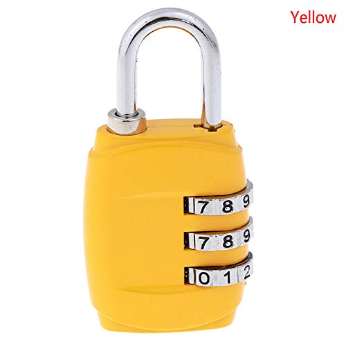 Cilinderslot 1Pc 3Digit Password Lock Combinatie Koffer Bagage Metalen Code Password Lock Hot Sale Geel
