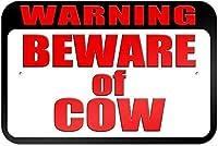 錫徴候金属標識警告牛のレトロに注意してください