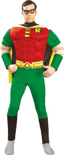 Batman Herren Muskel Kostüm Robin Größe L 52/54