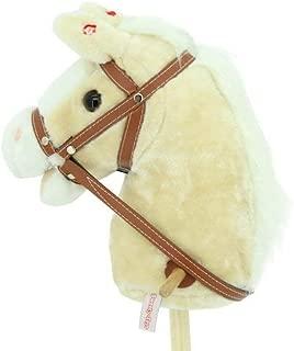 Spassprofi Kinder Stockpferd Steckenpferd Pferd Horsing Pl/üsch Holzpferd Rollen Geschenk Dunkelbraun