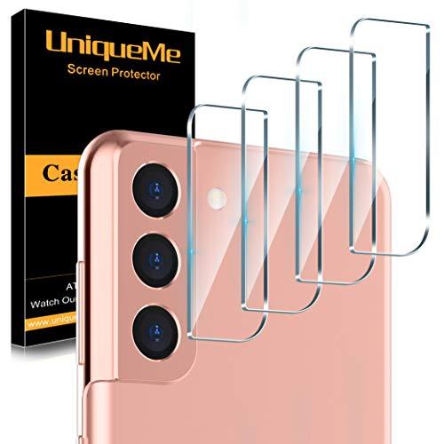 UniqueMe [4 Pezzi] Pellicola Fotocamera Compatibile con Samsung Galaxy S21 Plus / S21+ /S21 6.2/6.7 Pollici Protezione Lente Pellicola Posteriore, Vetro Temperato 9H Ultra Resistente [Bubble Free]
