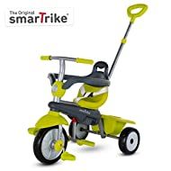 smarTrike Breeze Toddler Tricycle for 1,2,3 Year Olds - 3 in 1 Multi-Stage Trike, Green