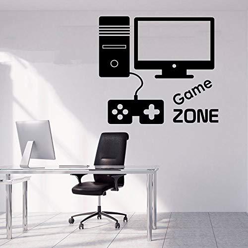 Regalo de jugador extraíble Video juego pared calcomanía juego sobre calcomanías pegatina de jugador pegatina juego niño habitación decoración otro color 57x51cm