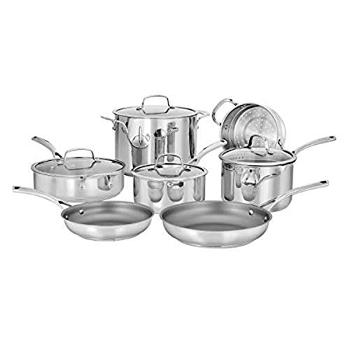 CUISINART 95-11 Forever Collection Cookware Set, 11 Piece, Stainless Steel