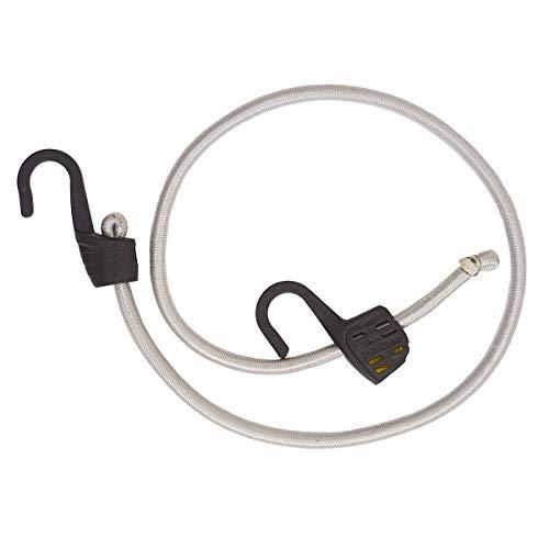 Master Lock 3039EURDAT Gummi-Spannseil mit Haken [100 cm langes Spannseil] [Einstellbare Länge von 15 cm bis 100 cm] [Stahlhaken] - Ideal zum Transportieren, Verpacken und Sichern von Lasten