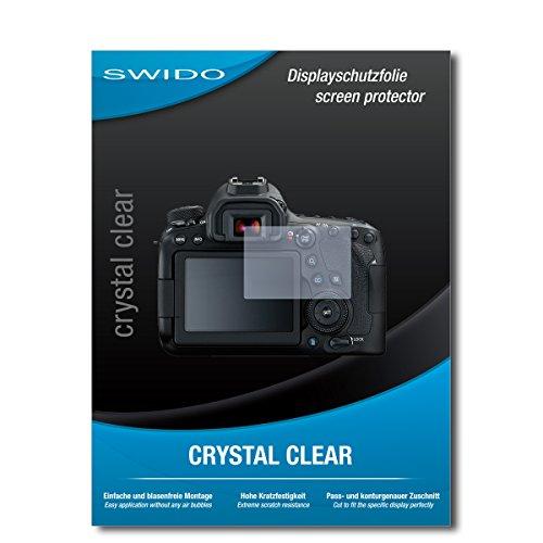 SWIDO Schutzfolie für Canon EOS 6D Mark II [2 Stück] Kristall-Klar, Hoher Härtegrad, Schutz vor Öl, Staub und Kratzer/Glasfolie, Displayschutz, Displayschutzfolie, Panzerglas-Folie